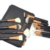 New zoeva 15 PCS ROSE GOLDEN COMPLETE MAKEUP BRUSH SET Professional Luxury Set  &coca blend rose golden  smoky eyeshadow palette