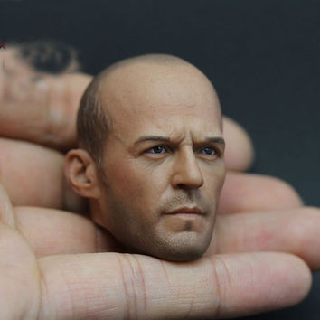 "1/6 Scale Jason Statham Male Head sculpt for 12"" Action figure Soldier Doll Toys"