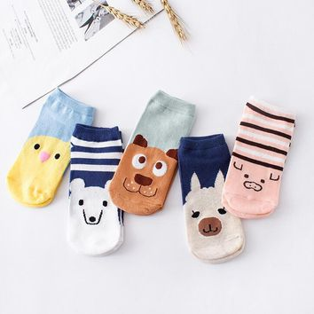 Small Animal Cartoon Slippers Socks Funny Crazy Cool Novelty Cute Fun Funky Colorful