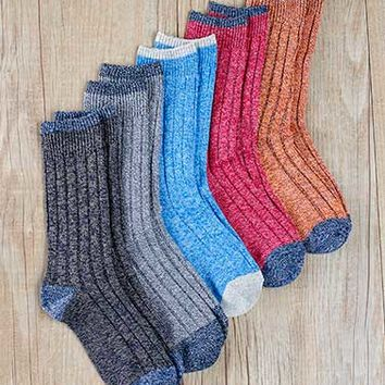5-Pair Women's Boot Socks