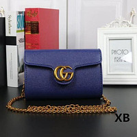 Gucci Women Fashion Trending Leather Satchel Bag Shoulder Bag Crossbody Blue  G