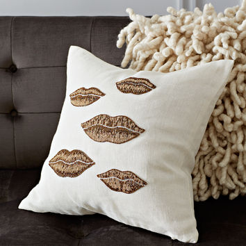 Jonathan Adler Muse Lips Throw Pillow