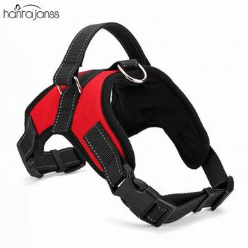 HANTAJANSS New Large Dog Harness Vest 3 Colors Professional Dog Chest Comfortable Nylon Net Cloth Pet Products Straps S-XL