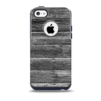 The Black Planks of Wood Skin for the iPhone 5c OtterBox Commuter Case