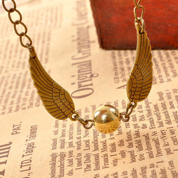 Golden Snitch bracelet, Golden Snitch, Harry Potter Bracelet, costume accessory, Harry Potter accessory, Bronze bracelet, Harry Potter Gift