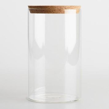 Large Glass Canister with Cork Top