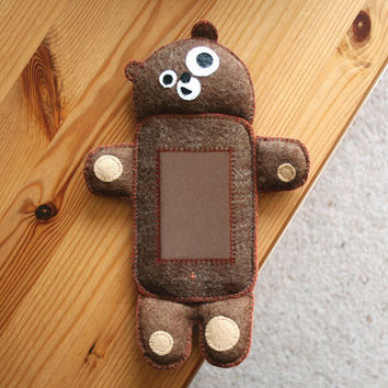 Handmade Teddy Bear iPhone and iPod cases by wendyandbens on Etsy