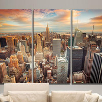 3 Piece New York city scenery Art Painting Modern Home Living Room Wall Decor HD Print Picture Photography Canvas Unframed
