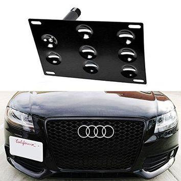 iJDMTOY Euro Style Front Bumper Tow Hole Adapter License Plate Mounting Bracket For Audi A4 A5 A7 S4 S5 S7 RS5 RS7, etc
