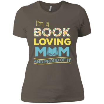 I'm a book loving mom and proud of it Ladies' Boyfriend Tee