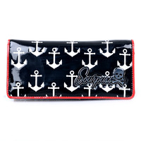 Black & White Galley Ho Anchor Wallet