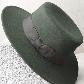 Wyeth Canotier Teal Green Hat