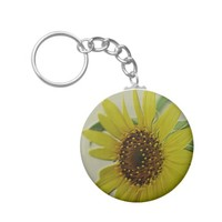 Embossed Sunflower Keychain