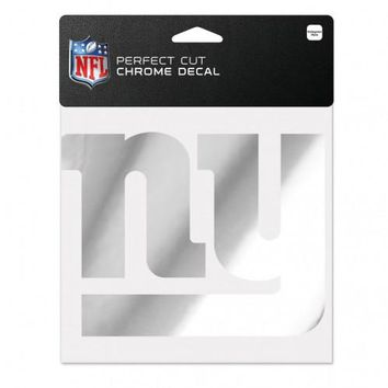 New York Giants Decal 6x6 Perfect Cut Chrome
