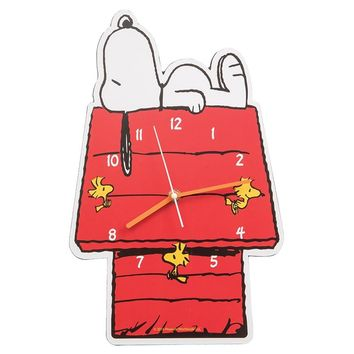 Snoopy and Woodstock Shaped Deco Wall Clock