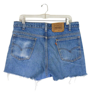 Women Levi Cut Off Shorts Levi Cutoff Shorts Cut Off Jean Shorts Jean Denim Cutoff Levi 517 Frayed Shorts High Waist Shorts Men Short Shorts
