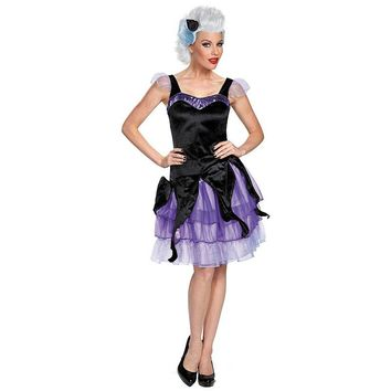 Disney's The Little Mermaid Ursula Deluxe Costume - Adult (Purple/Black)