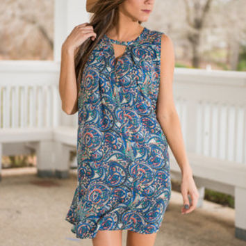 Way To My Heart Dress, Blue