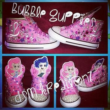 bubble guppies custom converse sneakers