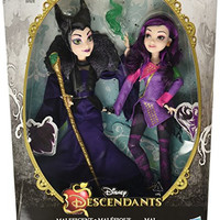 Disney Descendants Two-Pack Mal Isle of the Lost and Maleficent Dolls