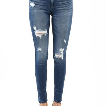 KanCan Lightly Distressed Ankle Skinny Jean