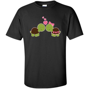 Valentines Day T-shirt His And Hers Turtle Couple Tee