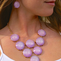 Summer Lilacs: Necklace & Earring Set