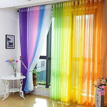 Home Window Panel Curtainf for Living Room Divider Yarn String Curtain Strip Drape Decor Cortinas 11 Colors 200cm x 100cm