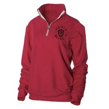 Official NCAA Indiana University Hoosiers  - 21AU01 Herrington Fleece 1/4 Zip Up Sweatshirt