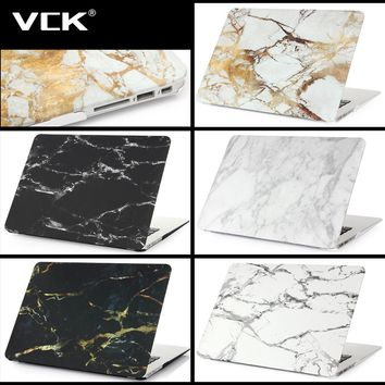 For Macbook Air Pro Retina 11 12 13 15 Mac 11.6 Air 13.3 Pro 15.4 White 2016 New Granite With Marble Pattern Hard Case