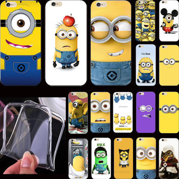 5 5S SE 4'' Hot Sold Funy Cartoon Cover Despicable Me Yellow Minion Case For Apple iPhone 5S iPhone SE iPhone5 Phone Cases Shell