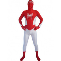 Catsuits & Zentai Red And White Spiderman Full Body Lycra Zentai Suit [TXL002] - $43.99
