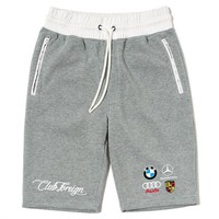 ONETOW Club Foreign Sweatshorts Germany Series Satin Waist White / Gray
