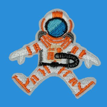 Space Man Iron On Patch