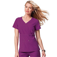 Sapphire by Koi Scrubs Women's Sherri Crossover V-Neck Top