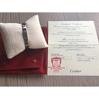 CARTIER LOVE WHITE GOLD BANGLE CERTIFICATE/ RECEIPT SIZE 16