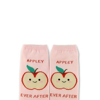 Apple Graphic Ankle Socks