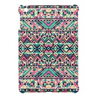 Pink Turquoise Girly Aztec Andes Tribal Pattern iPad Mini Case from Zazzle.com