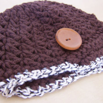 baby boy hat, newborn clothing, infant crochet beanie