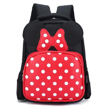 RORETE Kids School Backpack For Child Cartoon Mickey School Bags For Kindergarten Girls Baby Student Cute Children Backpacks