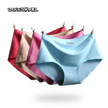Free shipping Women's  Panties ice silky Intimates seamless underwear triangle big yards of female briefs Super big size M-4XL