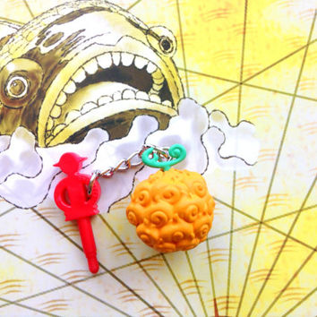 Ace Mera mera no mi dust plug charm, Anime One piece devil fruit charm, Sabo charm, Iphone accessory, One piece keychain, Anime phone charm