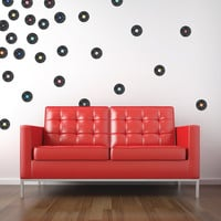 Vinyl Records Mini-Pack Wall Decals