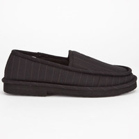 Dvs Francisco Mens Slippers Black Pinstripe  In Sizes