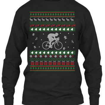Christmas Long Sleeve- Cycling Christmas -Unisex  Long  Sleeve - SSID2016
