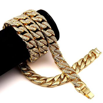 Hip Hop Iced Out Cuban Link Chain