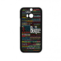 the beatles typography song lyric HTC One M8 Case