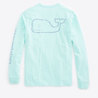 Vineyard Vines Vintage Graphic Whale Tee- Mint