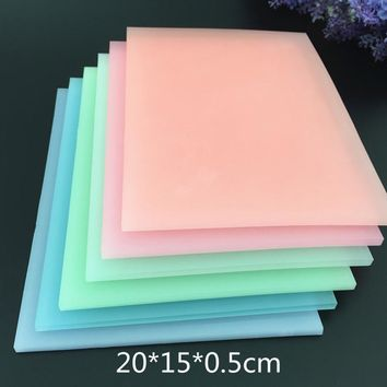 20X15X0.5cm color crystal jelly color translucent rubber bricks / rubber chapter carving special rubber bricks
