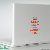 Keep Calm Carry On Laptop Vinyl Graphic Art Decals Stickers L23